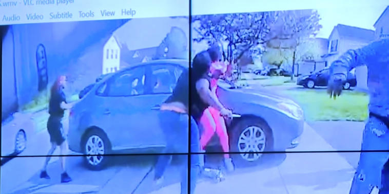 Imagen del video de la cámara corporal de la policía de Columbus, Ohio
