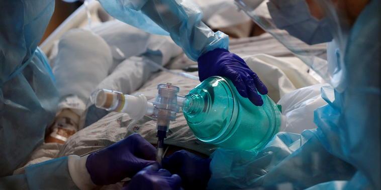 Unidad de cuidados intensivos en Florida.