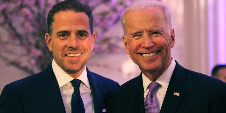 Hunter y Joe Biden en 2016