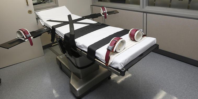 Imagen de archivo de una cámara de ejecución en una cárcel de Oklahoma.
