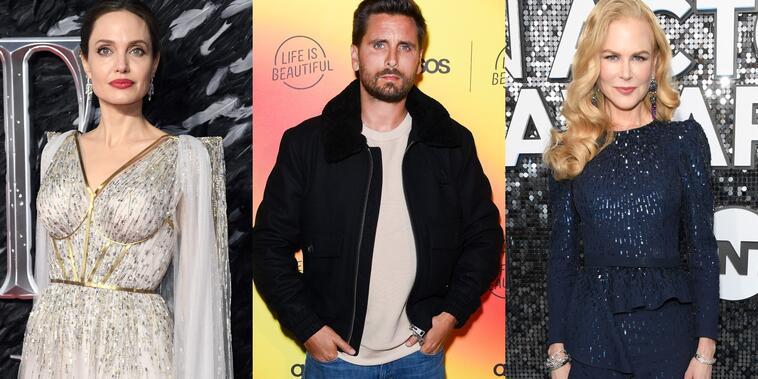 Angelina Jolie, Scott Disick y Nicole Kidman