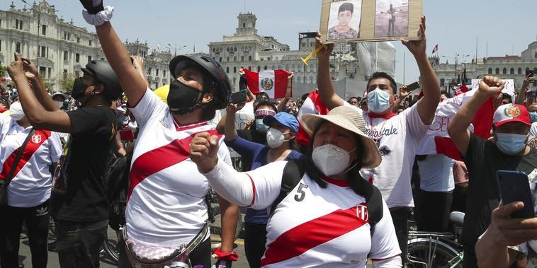 Protestas en Lima, Perú.