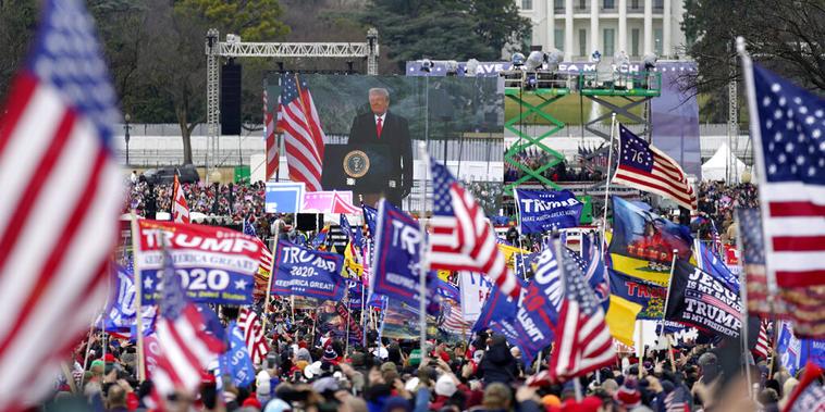 Donald Trump da un mitin el pasado 6 de enero en Washington D.C., a pocas horas de que una turba de partidarios suyos asaltara el Capitolio.
