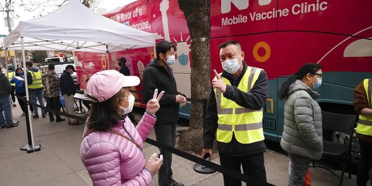 Nueva York ha administrado hasta el momento casi seis millones 900 mil vacunas contra el COVID-19.