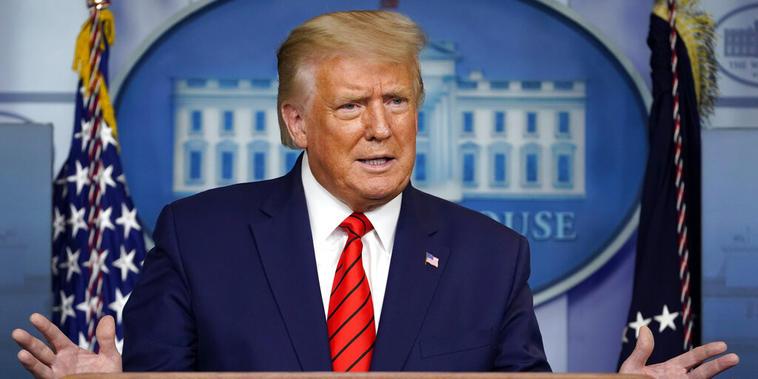 El presidente Donald Trump en la Casa Blanca