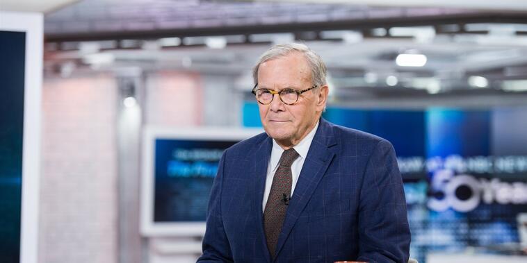 Tom Brokaw celebra su 50 aniversario como corresponsal especial en el programa TODAY de NBC, el 27 de enero de 2017.