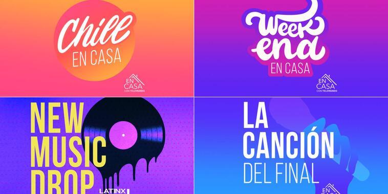 Playlists de 'En Casa con Telemundo' y 'Latinx Now!' en Apple Music