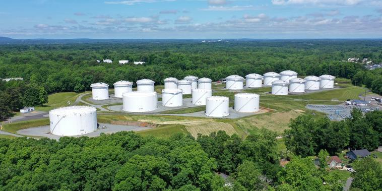 Centro de contenedores de Colonial Pipeline en Charlotte, Carolina del Norte