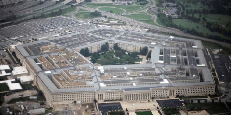 El Pentágono visto desde el aire en una fotografía de archivo