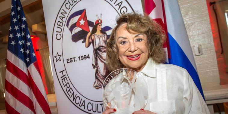 La escritora y guionista cubana Delia Fiallo