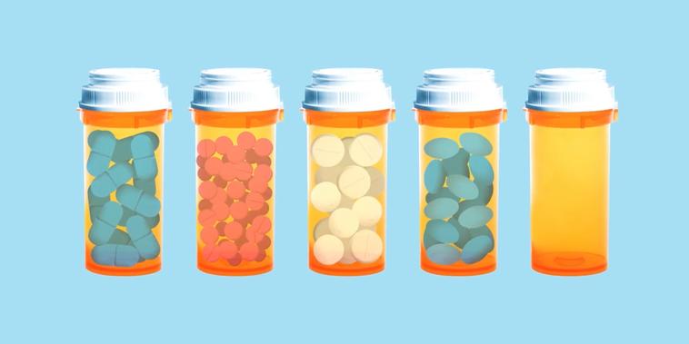 Ilustración de botellas de medicina