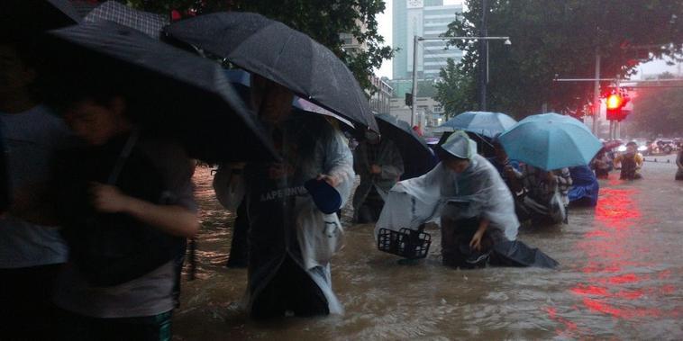 Inundaciones en la ciudad china de Zhengzhou