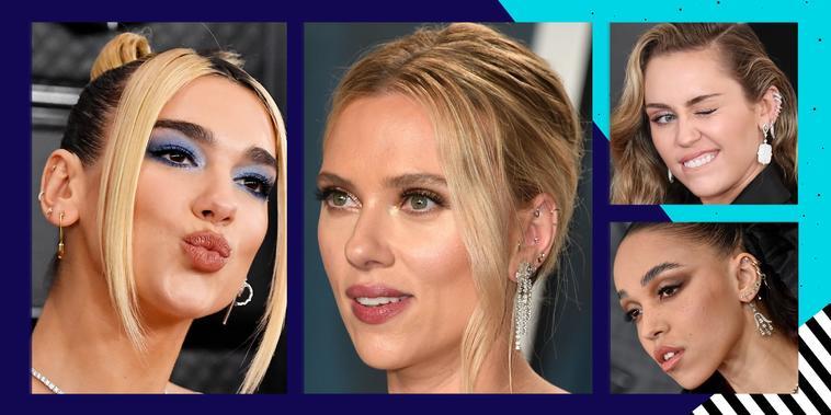 Súmate a las famosas con la tendencia de los aretes múltiples | Telemundo