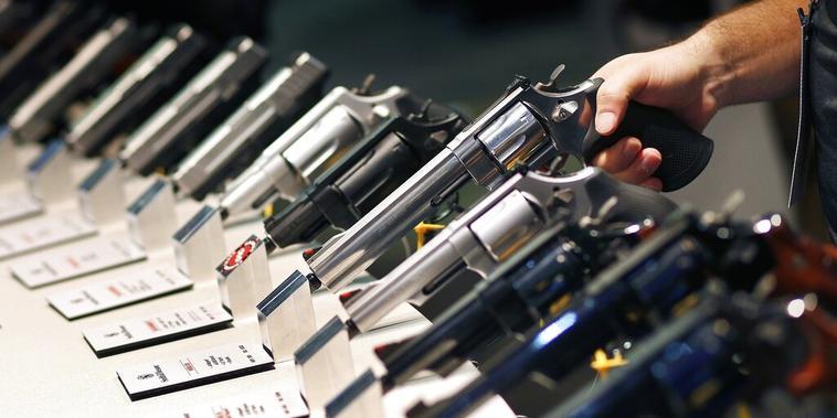 Armas de Smith & Wesson en una exposición celebrada en Las Vegas, en junio de 2016.