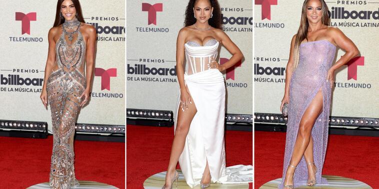 Gaby Espino, Natti Natasha y Adamari López en los Premios Billboard de la Música Latina 2020