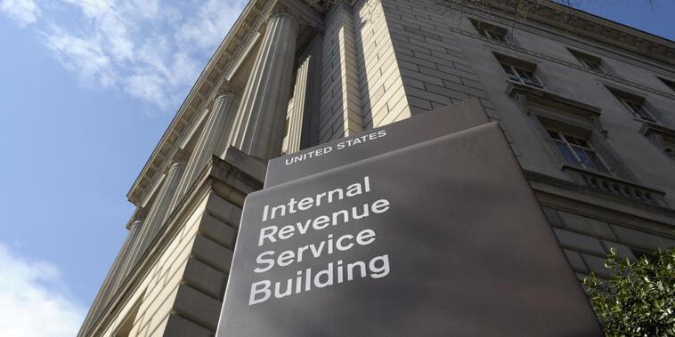 Edificio del IRS en Washington.