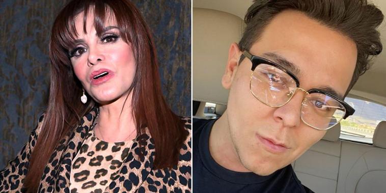 Lucía Méndez y el maquillista Caleb Campos