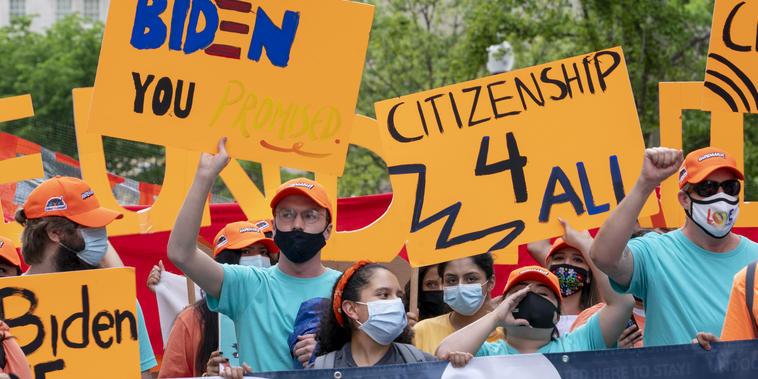 Partidarios de la reforma migratoria en Washington D.C.