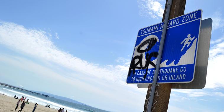 Señal de tsunami en California