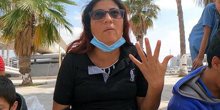 La migrante guatemalteca Mayda Caulio en México.
