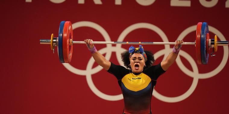 Dajomes levantó 118 kilogramos en la arrancada y 145 kilos en el envión para un total de 263,14 y superar a la estadounidense Kate Nye