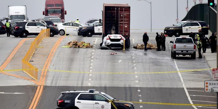 Accidente de tráfico en California
