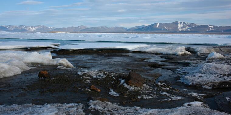 Científicos descubren isla en el punto más norte del munod