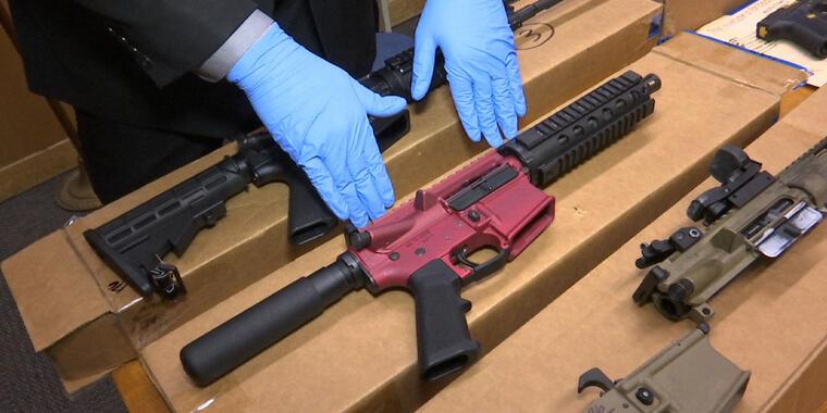 """""""Armas fantasma"""" en la sede del Departamento de Policía de San Francisco, California"""