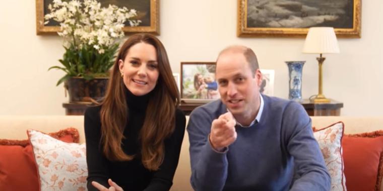 Kate Middleton y el príncipe William en su primer video en su canal de Youtube