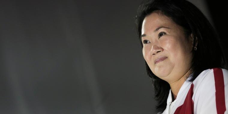 La candidata a la presidencia de Perú Keiko Fujimori.