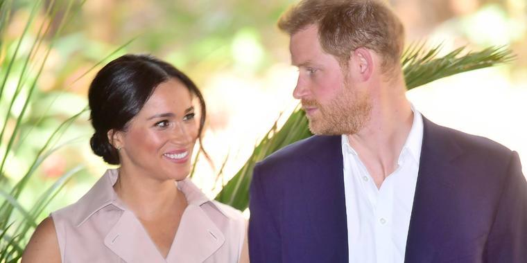 Harry y Meghan Markle durante su visita a África en 2019