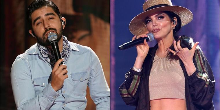 Joss Favela y Ana Bárbara en los ensayos de los Latin American Music Awards 2021