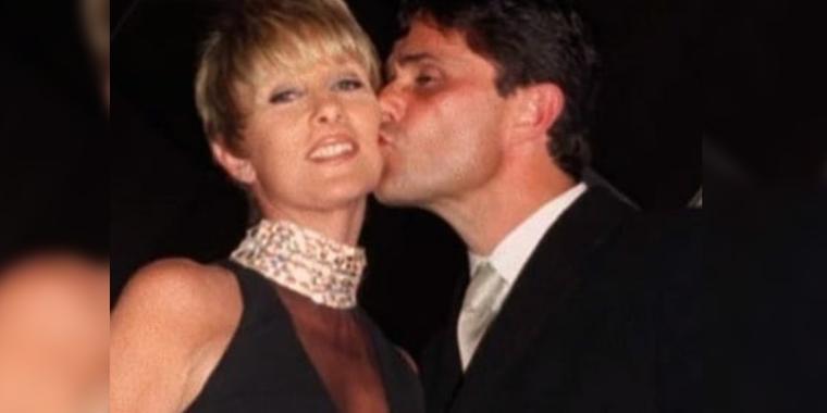 Humberto Zurita y Christian Bach beso en la mejilla