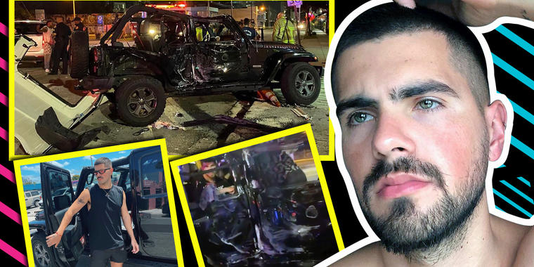 Rombai: Estremecedoras imágenes del accidente que lo mandó al hospital