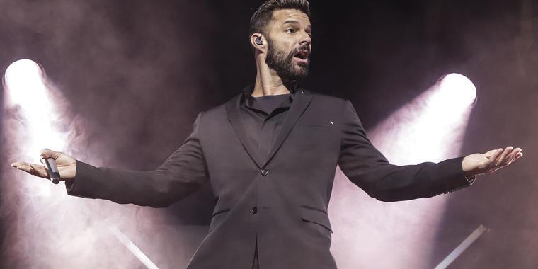 Ricky Martin enojado