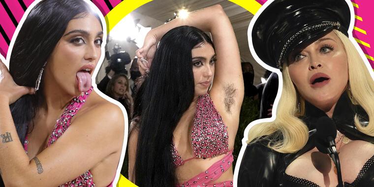 Hija de Madonna se olvida del pudor y muestra sus axilas peludas en pleno MET Gala