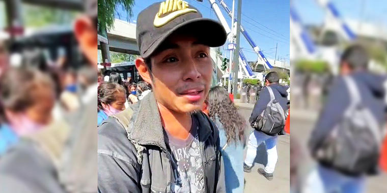 Miguel Ángel Córdova Córdova, testigo del accidente en el metro de la Ciudad de México