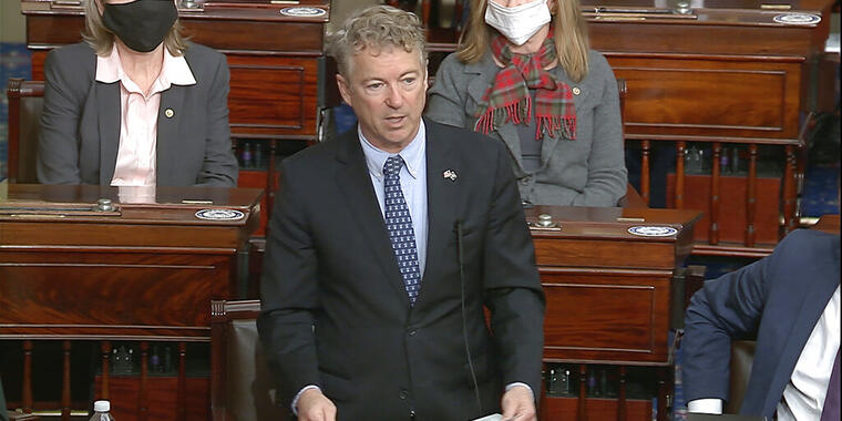 El senador republicano Rand Paul
