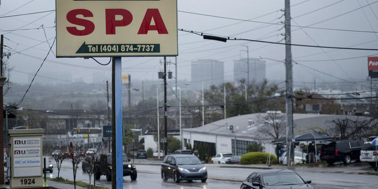 El negocio Gold Spa en Atlanta un día después del tiroteo mortal.