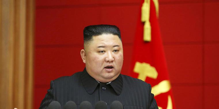 Kim Jong Un hace declaraciones durante una conferencia en Pyongyang