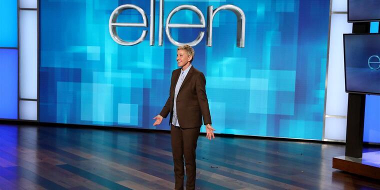 Ellen DeGeneres durante una grabación de su programa de entrevistas en los estudios de Warner Bros. en Burbank