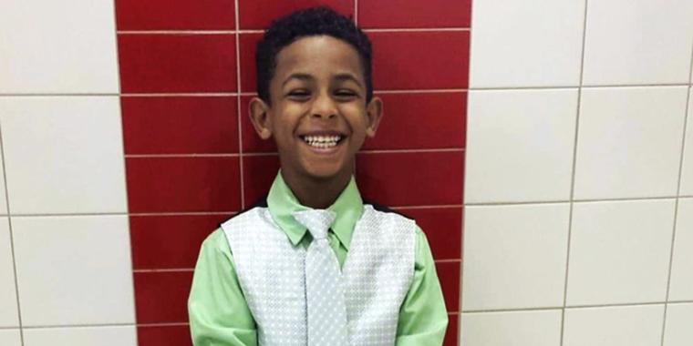 Gabriel Taye cuando estaba en segundo grado.