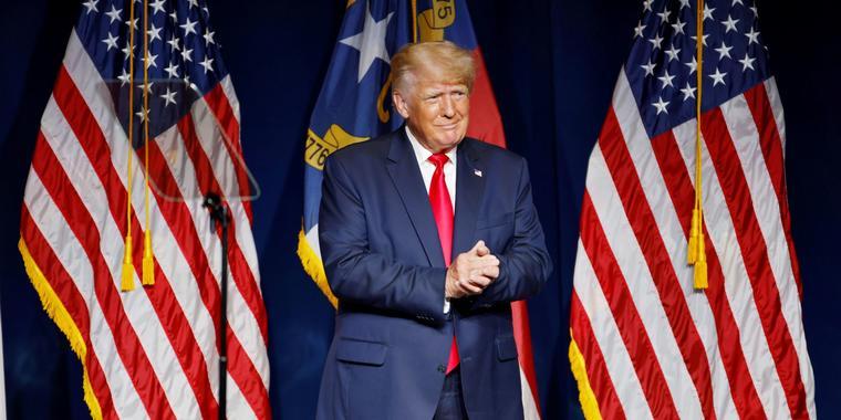 Donald Trump durante su participación en la convención republicana de Carolina del Norte, en la ciudad de Greenville, el 5 de junio del 2021.