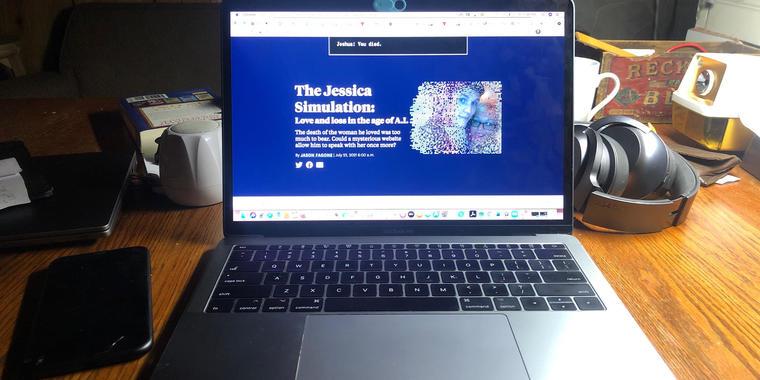 El diario The San Francisco Chronicle publicó la historia de Joshua Barbeau el viernes 23 de julio del 2021. Titulada 'The Jessica Simulation', el reportaje narra cómo el joven canadiense creó un bot para simular una conversación con su novia fallecida.