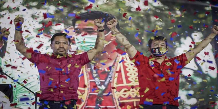 El icono del boxeo y senador filipino Manny Pacquiao dice que se presentará a las elecciones presidenciales de 2022.