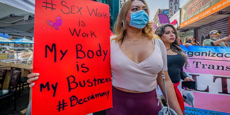 Trabajadora sexual en Queens, Nueva York.