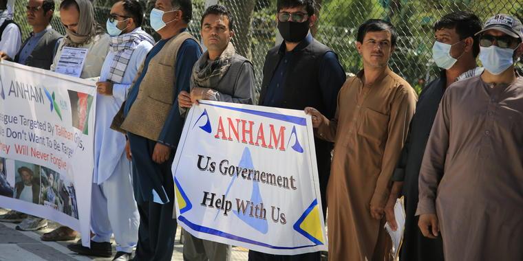 Afganos en Kabul