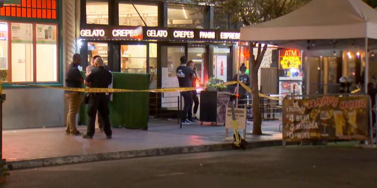 La escena de un tiroteo mortal en San Diego.