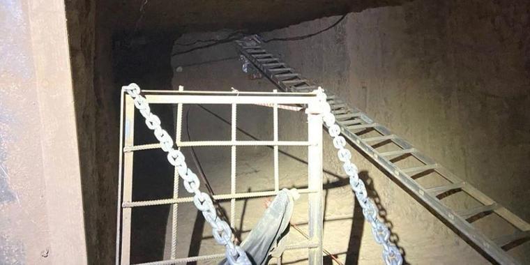 Túnel subterráneo hallado por las autoridades en California