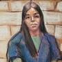 Emma Coronel Aispuro comparece en corte.